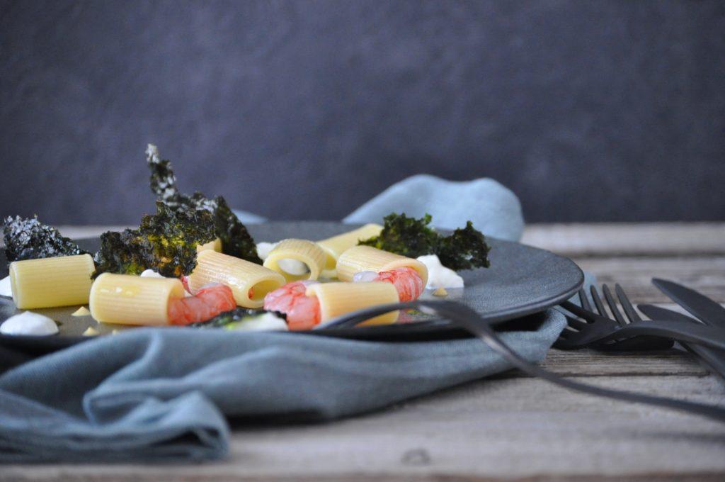 Pasta gamberi rossi e pesto di alghe nori la cucina di stagione - Alghe in cucina ...